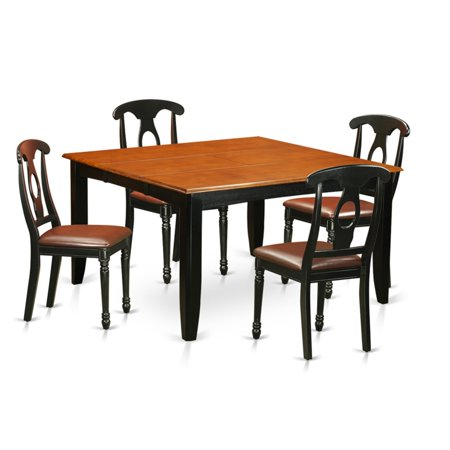 East West Furniture Parfait 5 Piece Keyhole Dining Table Set