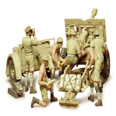 British 25Pdr. Field Gun (1/35 scale Plastic model) Tamiya Military Miniatures JAPAN