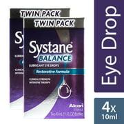 SYSTANE BALANCE Lubricating Eye Drops for Dry Eyes Symptoms, 2 x 10mL TWIN