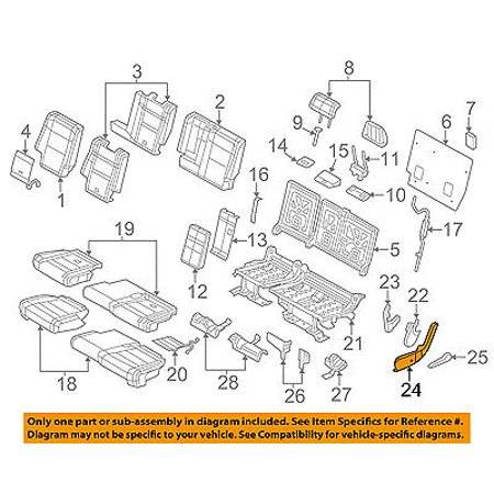 Jeep CHRYSLER OEM 14-16 Grand Cherokee Rear Seat-Side Cover Right (Jeep Grand Cherokee Leather Seats)
