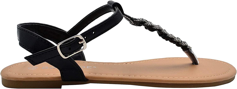 Gold Toe Women's Braided Rhinestone T