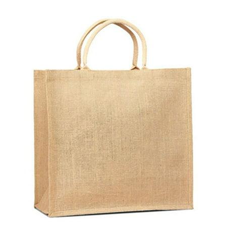 Natural Eco-friendly  Burlap Jute Tote Bag Purse 1701