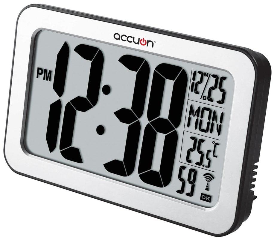 Accuon Large Atomic Radiocontrolled Selfsetting Digital Wall Clock