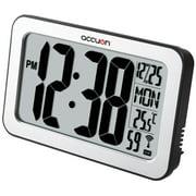 Accuon Jumbo Digital Self-adjusting Atomic Wall Clock with Indoor Temperature.
