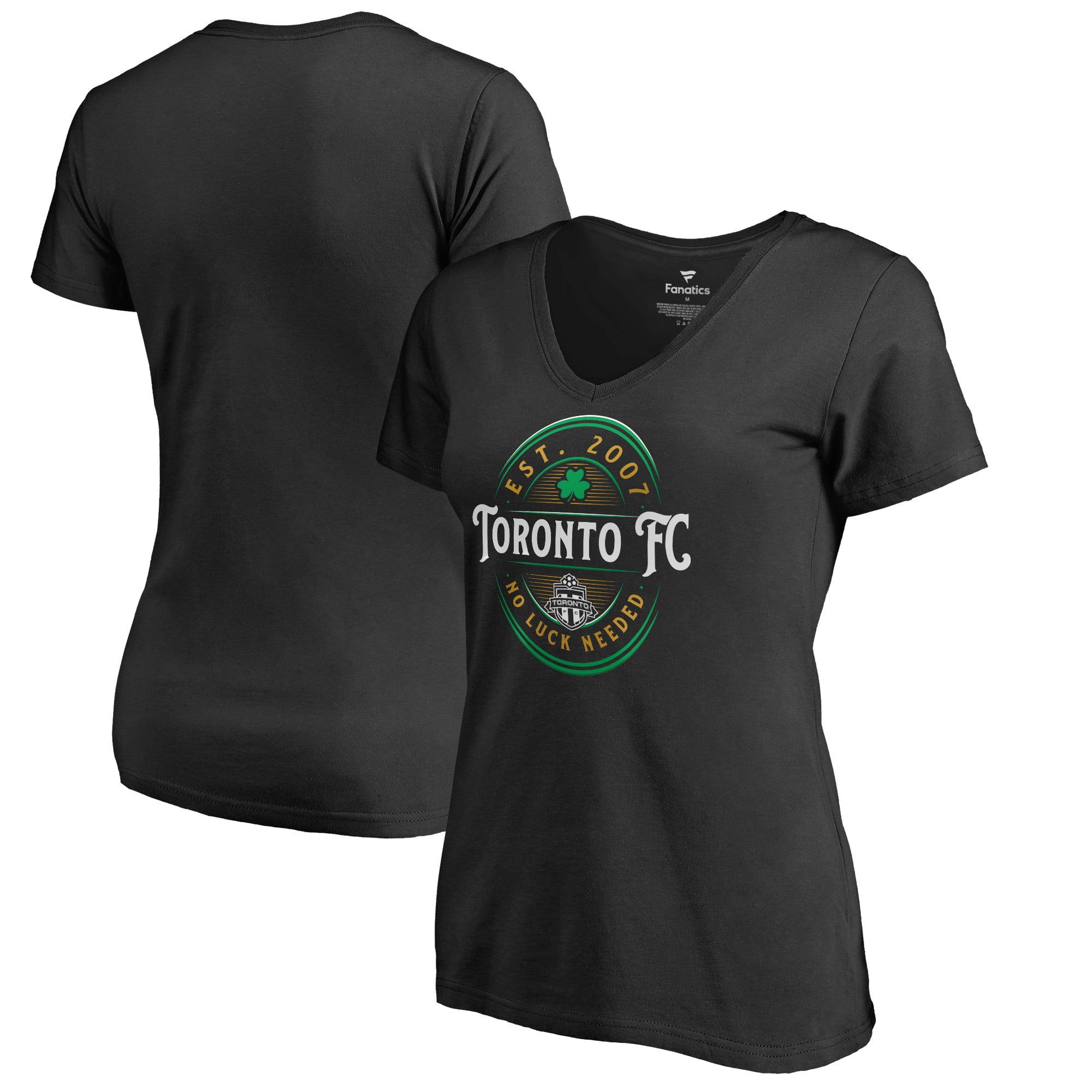 Toronto FC Fanatics Branded Women's Forever Lucky V-Neck T-Shirt - Black