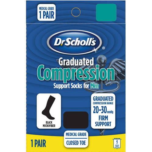 Dr. Scholl's Men's Microfiber Firm Compression Socks - 1 Pack