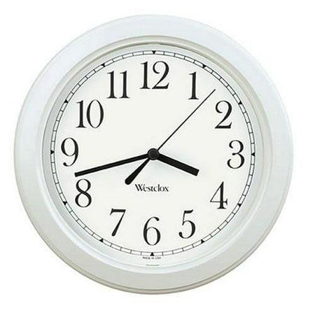 Westclox 46994W Simplicity Wall Clock White