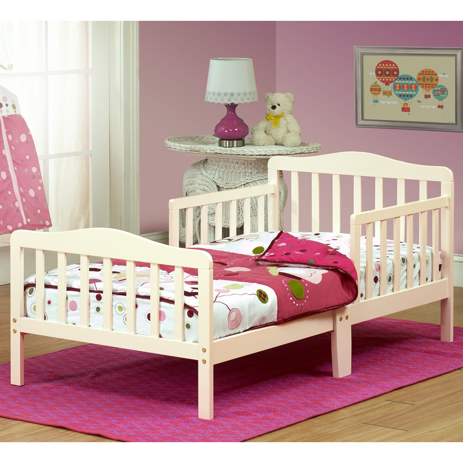 The Orbelle Contemporary Solid Wood Toddler Bed - French White