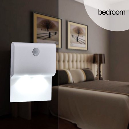 Clearance! 9cm LED Safety Night Light Battery Indoor Motion Sensor Light Bedroom Bathroom