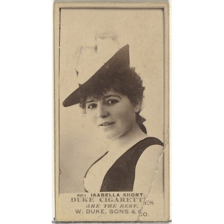 Isabella Series - Card Number 501 Isabella Short from the Actors and Actresses series (N145-7) issued by Duke Sons & Co to promote Duke Cigarettes Poster Print (18 x 24)