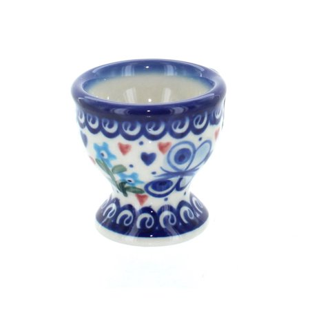 Polish Pottery Butterfly Egg Cup