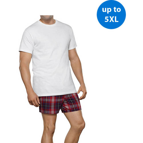 Fruit of the Loom Big Men's Collection White Crews, 3-Pack