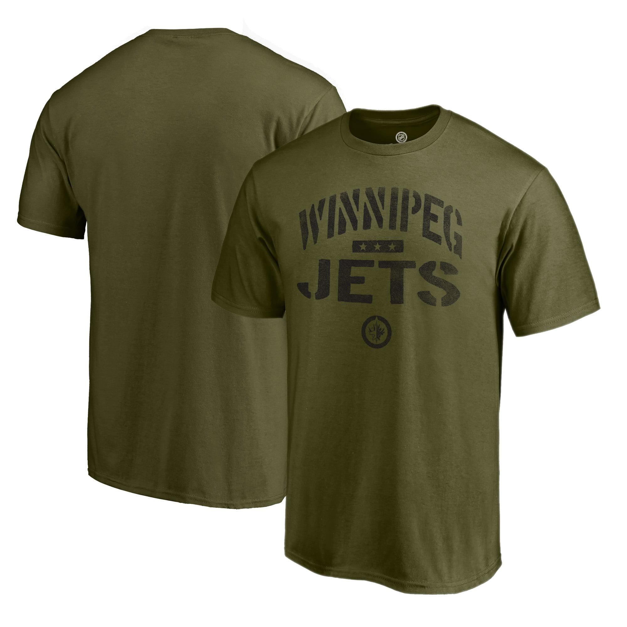 Winnipeg Jets Fanatics Branded Camo Collection Jungle T-Shirt - Green