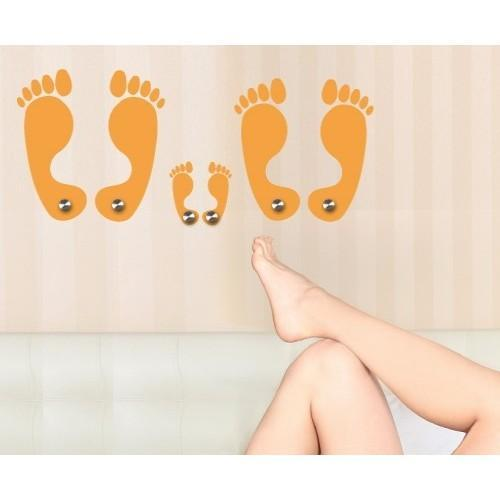 Feet Wall Hanger Decal Vinyl Art Home Decor Beige 31in x 14in