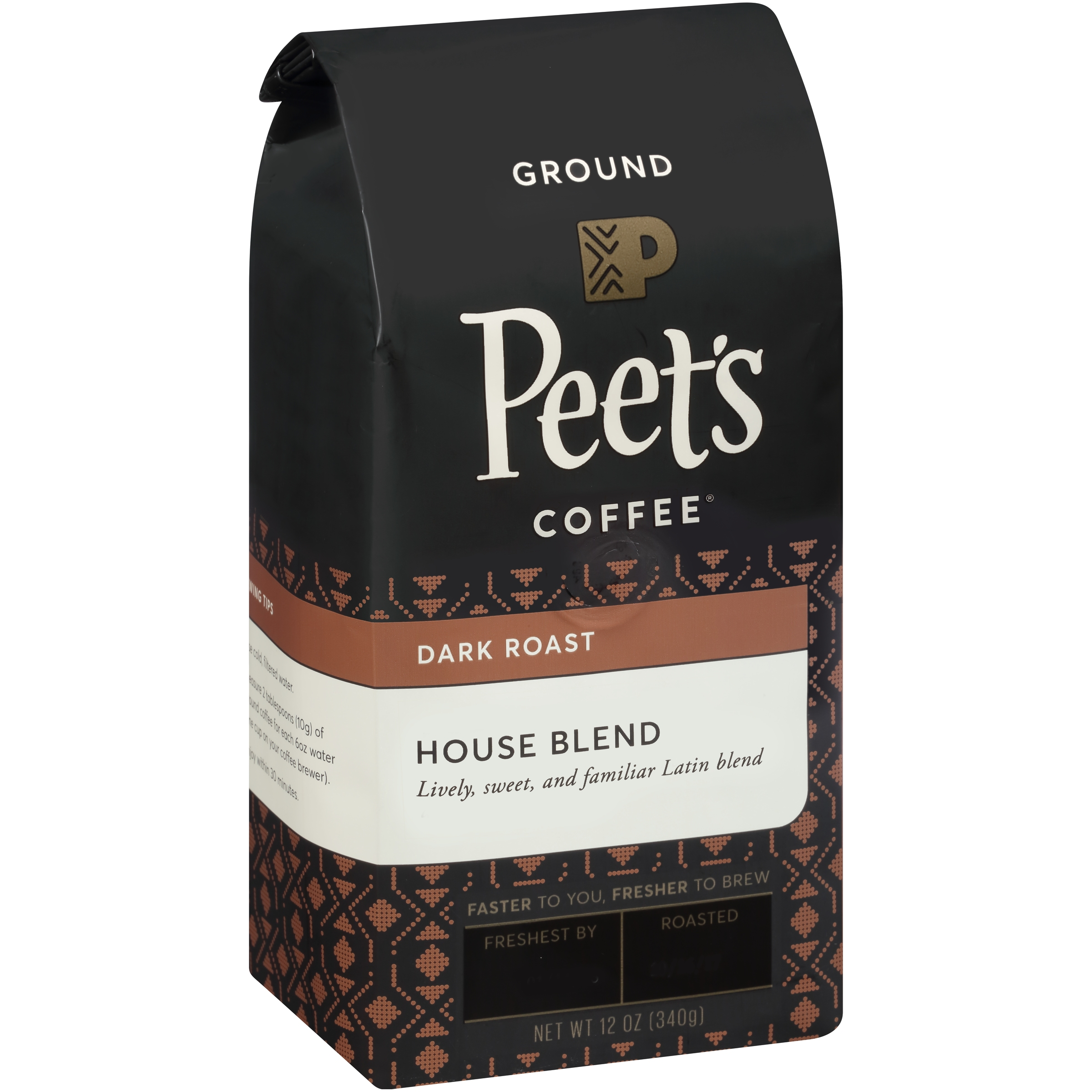 Peet's Coffee® House Blend Dark Roast Ground Coffee 12 oz. Stand-Up Bag