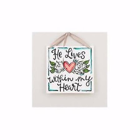 Glory Haus 15345X 8 x 8 in. Tile-He Lives Within My Heart - image 1 of 1