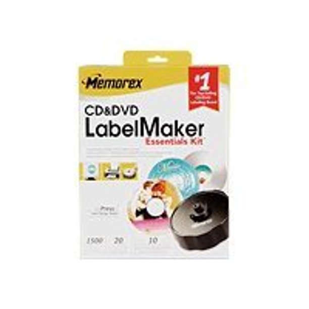Memorex Cd Dvd Labelmaker Essentials Kit Storage Cd Dvd Labelmaker Kit Walmart Com Walmart Com