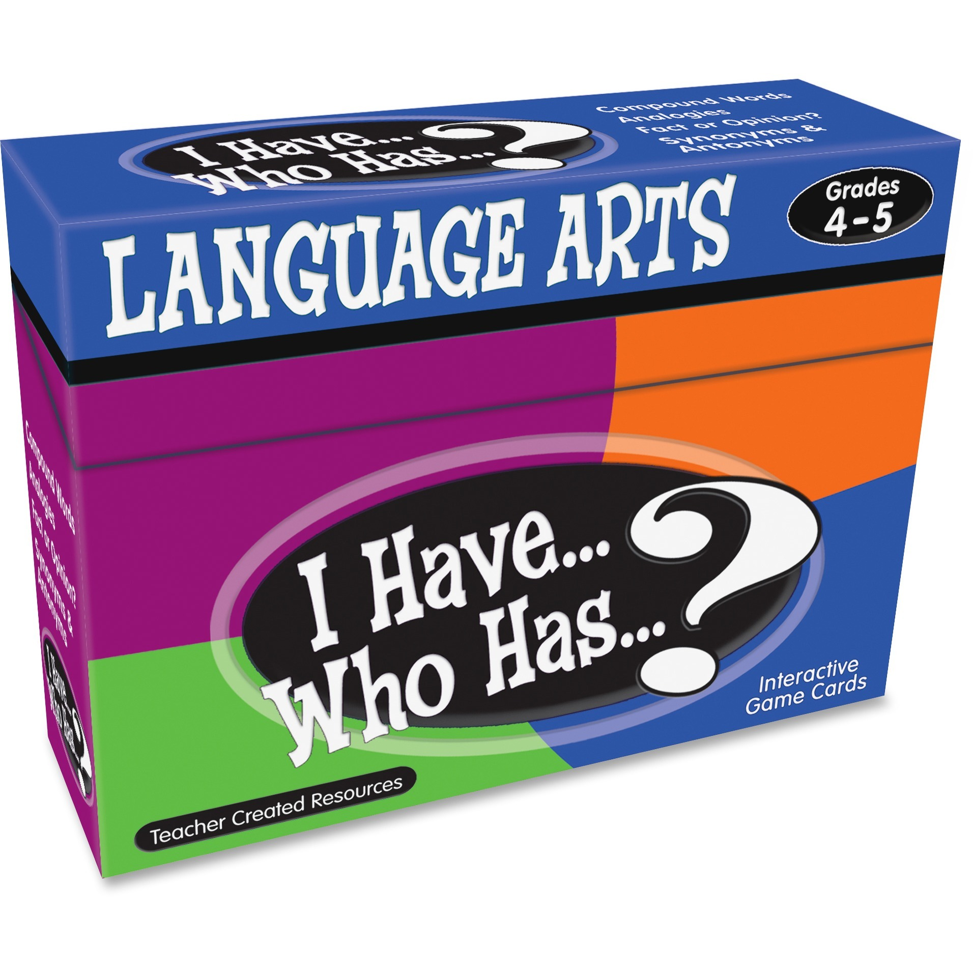 Teacher Created Resources, TCR7831, 4&5 I Have Language Arts Game, 1 Each, Multi