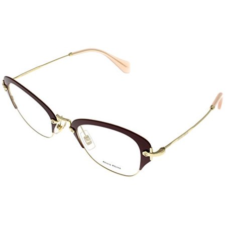 Miu Miu Prescription Eyewear Frames  Women Square Plum MU 53OV UA51O1 Size: Lens/ Bridge/ Temple: (Miumiu Eyewear)