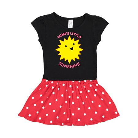 Mimi's Little Sunshine Toddler Dress Black & Red with Polka Dots (Little Black Dot On The Sun Today)