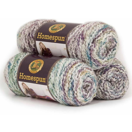 - Lion Brand Yarn Homespun Acrylic Fashion Yarn, 3 Pack