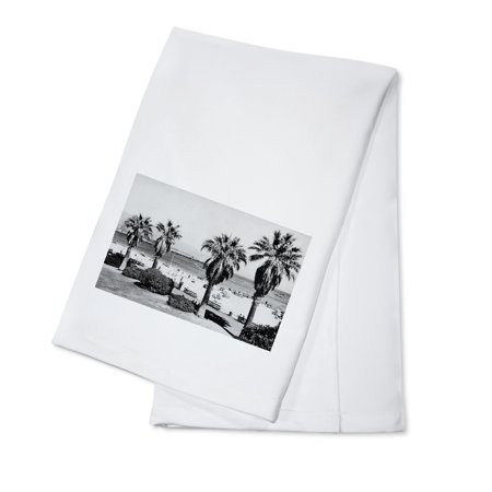 Santa Barbara, CA West Beach View Photograph (100% Cotton Kitchen (Eco Friendly Dry Cleaners Santa Barbara Ca)