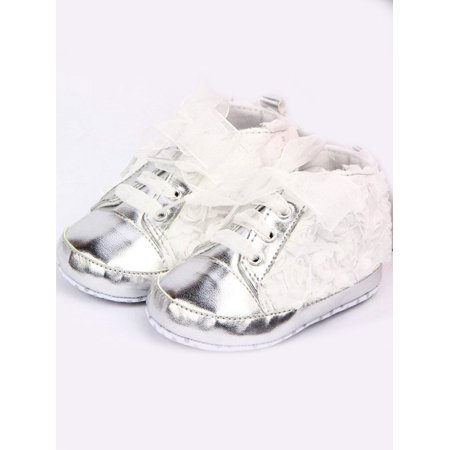 Cute Infant Toddler Newborn Baby Girl Rose Lace Soft Sole Sneakers Princess  Crib shoes