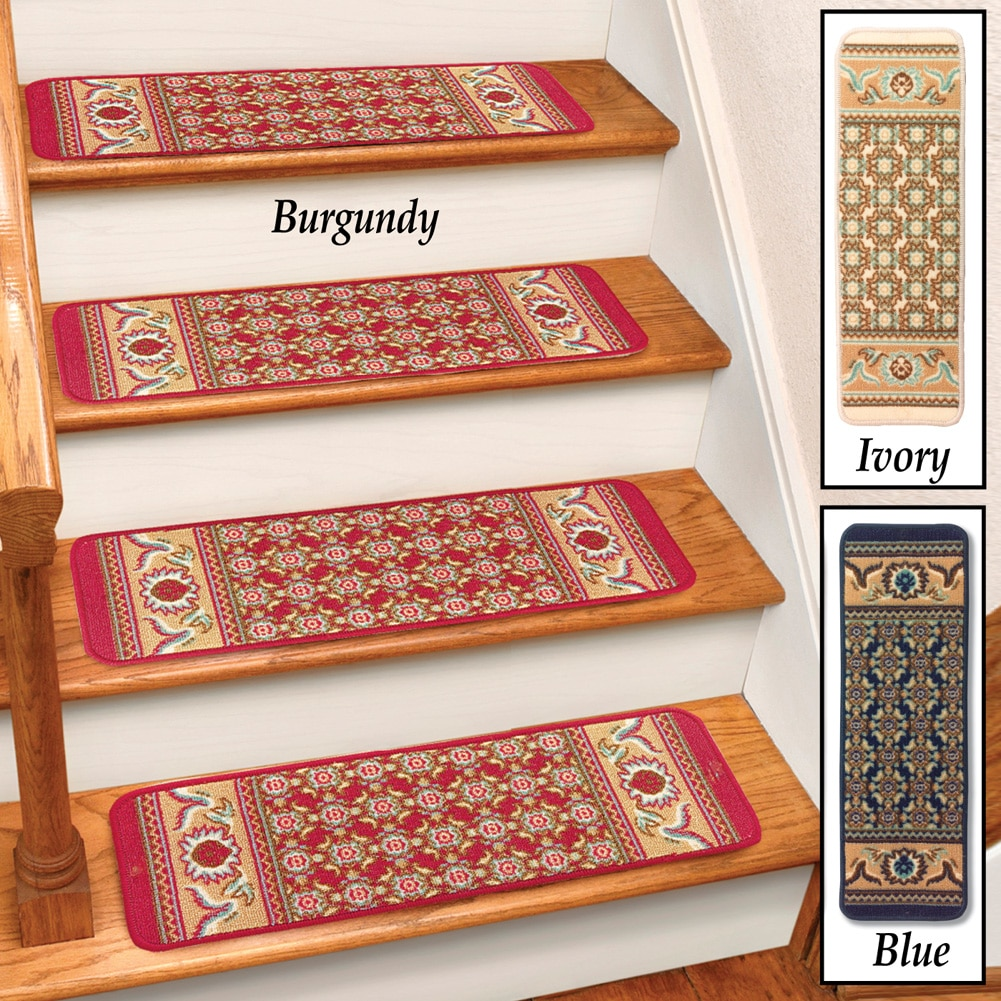 burgundy rug carpet stair treads set of 4 cst260r
