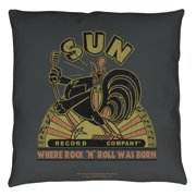 Sun Records Sun Rooster Throw Pillow White 18X18