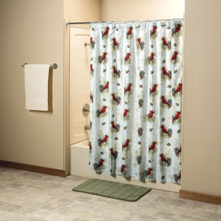 Christmas Cardinal Shower Curtain