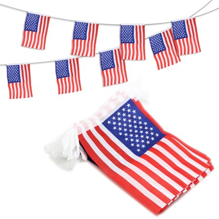 USA American String Pennant Banners, Patriotic Events 4th of July Independence Day Decoration Sports Bars - 33 Feet 38 Flags](Banner 4th Of July)