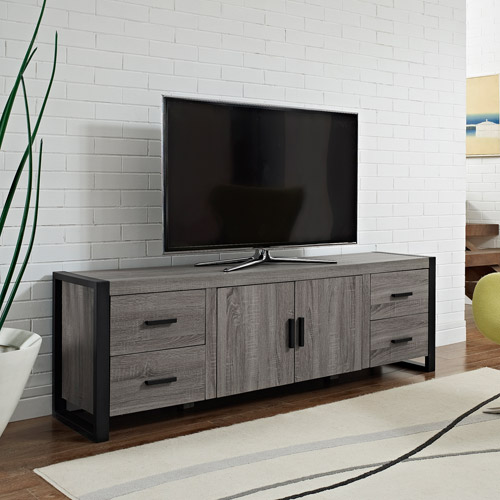 "Reclaimed Wood TV Stand for TVs up to 70"", Multiple Finishes"