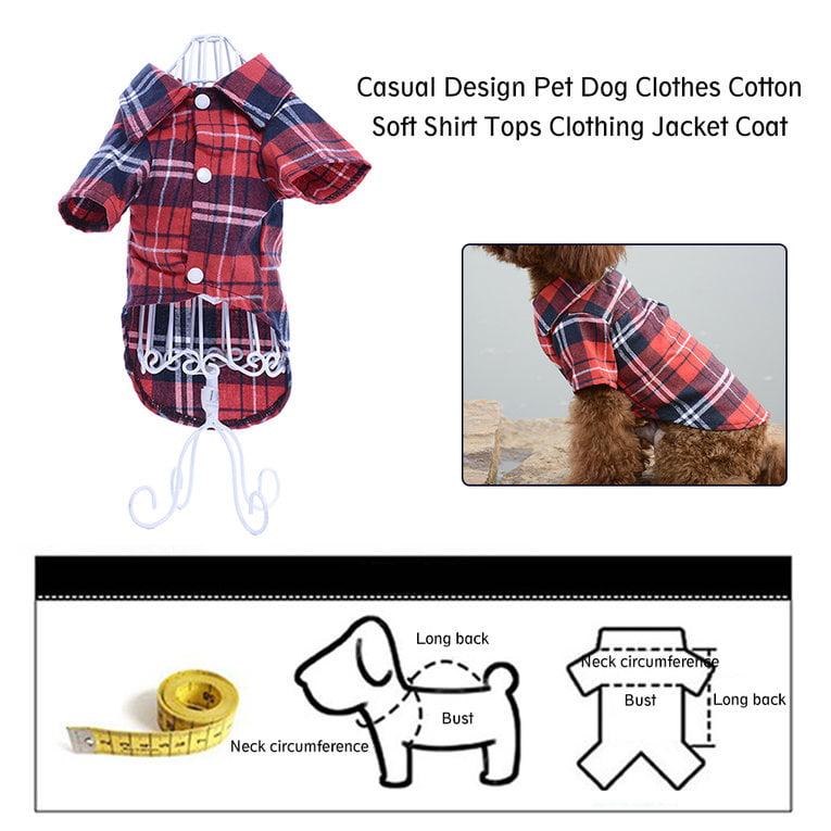 Casual Pet Dog Clothes Cotton Soft Shirt Tops Clothing Comfortable Soft Puppies Pet Dog Jacket Coat Clothes Pet Accessory