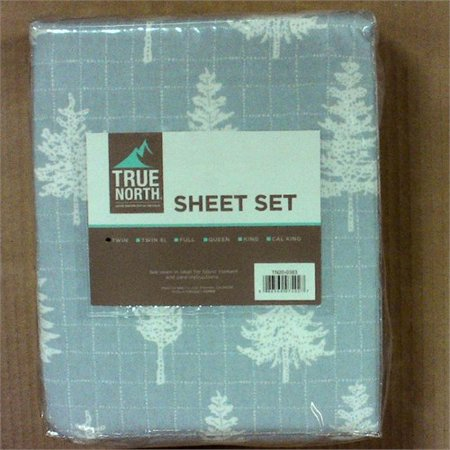 True North by Sleep Philosophy Cozy Flannel Sheet Set Grey Forest (Cozy Flannel)