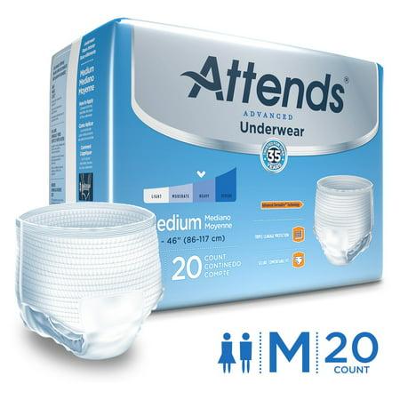 Attends Leakage Barrier Super Plus Absorbency Underwear, M, 20 Ct (Attends Protective Underwear Pull)
