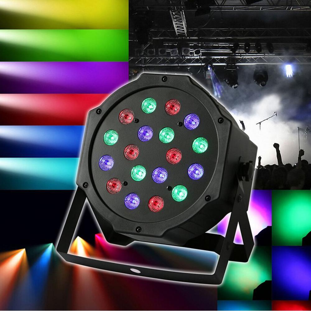 Zimtown Par Can 18 RGB LED Stage Light Disco DJ Bar Effect UP Lighting Show DMX Strobe