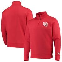 Nebraska Cornhuskers Starter Heisman Quarter-Zip Pullover Jacket - Scarlet