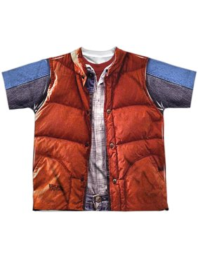 Back To The Future - Mcfly Vest - Youth Short Sleeve Shirt - Large