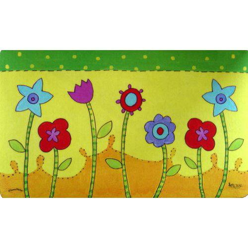 Custom Printed Rugs Flower Patch Doormat