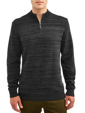 George Men's Quarter Zip Sweater, up to Size 5XL
