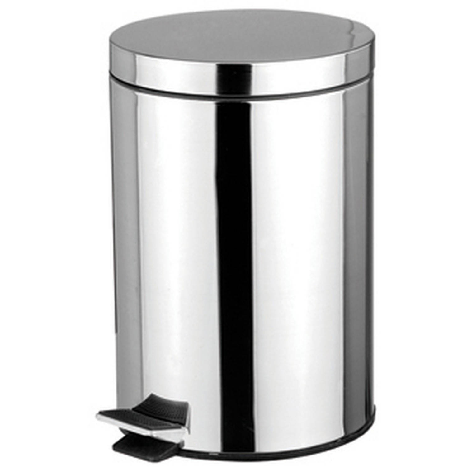 Home Basics 5 L Stainless Steel Waste Basket