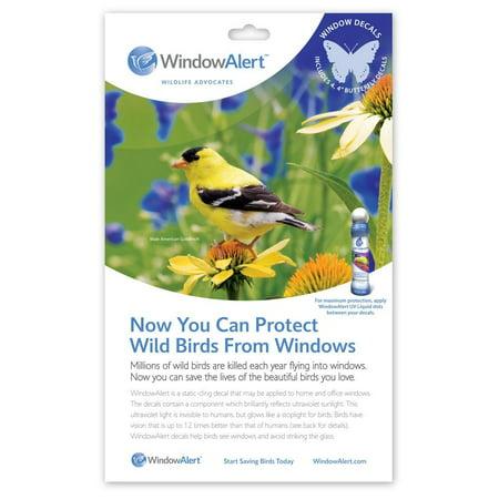 GC - Window Alert -  Window Strike Deterrent - 4 Decals - Butterfly (Bird Window Strike Decals)