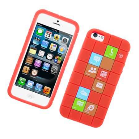 iPhone 5S case, iPhone 5C case, by Insten Checker Rubber Silicone Skin Gel Back Case Cover For Apple iPhone 5 / 5C / 5S