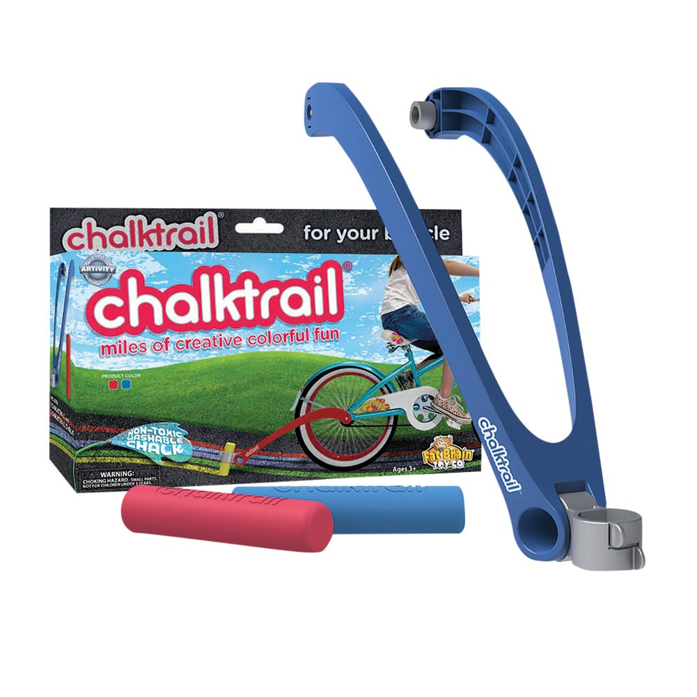 Fat Brain Toys Chalktrail Bike Toy Blue