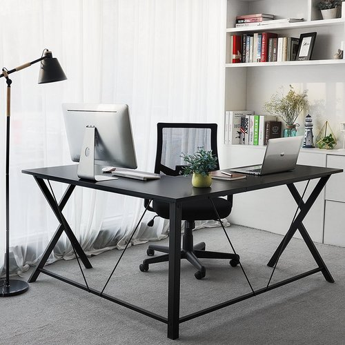 Rebrilliant Eveland Open Top Corner Writing Desk