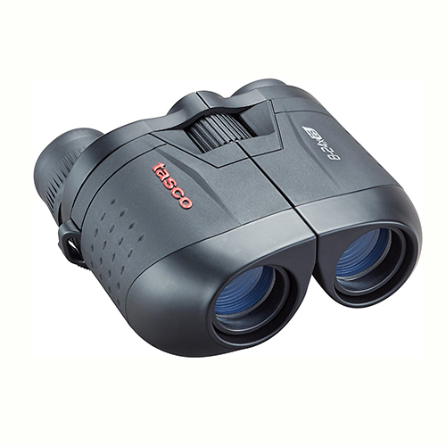 Tasco Essentials Binoculars 8-24X25mm, Black Porro Mc, Zoom, Box 6L