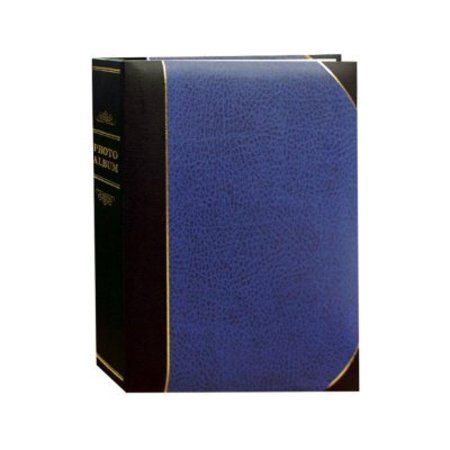 Le Memo Album - Pioneer Photo Albums BT-68 100-Pocket Leatherette Cover Ledger Style Le Memo Photo Album, 6 by 8-Inch, Blue and Black
