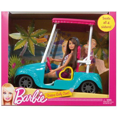 Barbie Sisters Golf Cart with Skipper Doll
