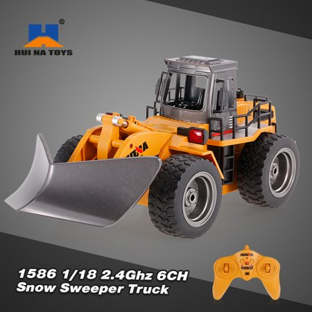 HUI NA TOYS 1586 1/18 2.4Ghz 6CH Snow Sweeper Engineering Truck RC Car Kids Toys - Na Control Cover