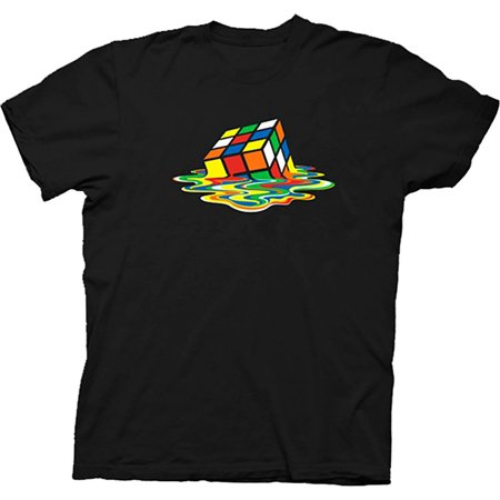 Rubik's Cube Melting Sheldon Cooper The Big Bang Theory Black T-shirt (Big Bang Theory Halloween Couples)